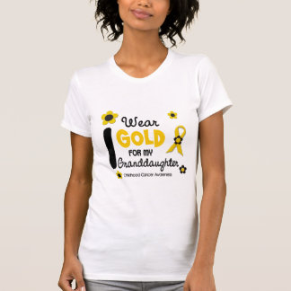 I Wear Gold For My Granddaughter 12 FLOWER VERSION T-Shirt