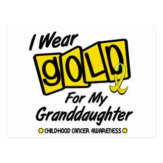 I Wear Gold For My GRANDDAUGHTER 8 Postcard