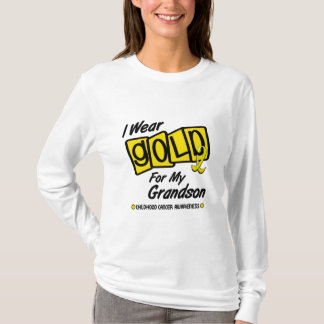 I Wear Gold For My GRANDSON 8 T-Shirt