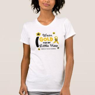 I Wear Gold For My Little Hero 12 FLOWER VERSION Tee Shirt