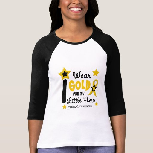 I Wear Gold For My Little Hero 12 STAR VERSION T-shirts