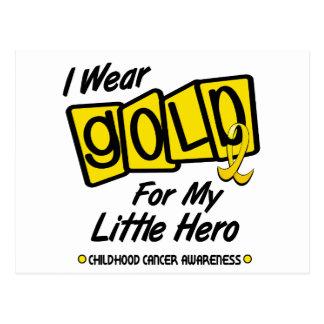 I Wear Gold For My Little HERO 8 Postcard