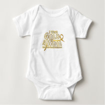 I Wear Gold For My Mom Childhood Cancer Awareness Baby Bodysuit