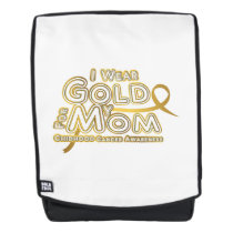 I Wear Gold For My Mom Childhood Cancer Awareness Backpack