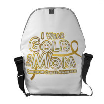 I Wear Gold For My Mom Childhood Cancer Awareness Courier Bag
