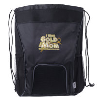 I Wear Gold For My Mom Childhood Cancer Awareness Drawstring Backpack