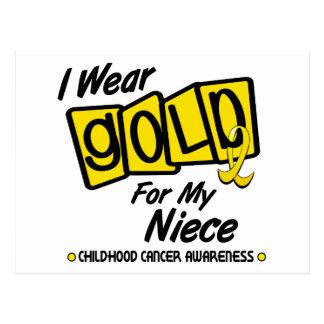 I Wear Gold For My NIECE 8 Postcard