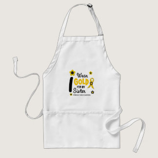 I Wear Gold For My Sister 12 FLOWER VERSION Adult Apron