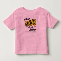 I Wear Gold For My SISTER 8 Toddler T-shirt