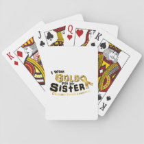 I Wear Gold For My Sister Childhood Cancer Playing Cards