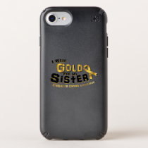 I Wear Gold For My Sister Childhood Cancer Speck iPhone Case