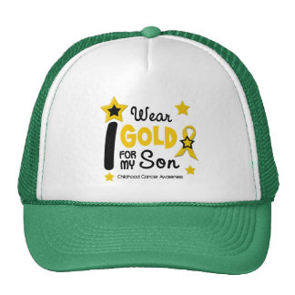 I Wear Gold For My Son 12 STAR VERSION Trucker Hats