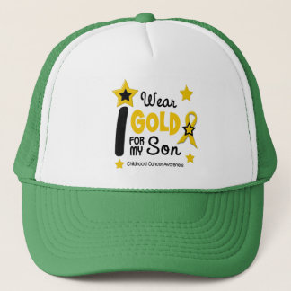 I Wear Gold For My Son 12 STAR VERSION Trucker Hat