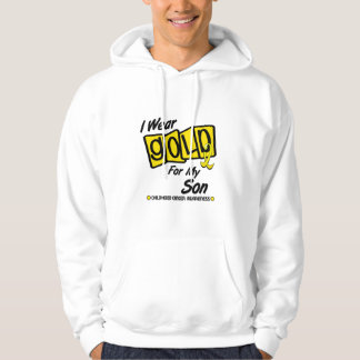 I Wear Gold For My SON 8 Hoodie