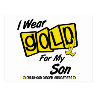 I Wear Gold For My SON 8 Postcard
