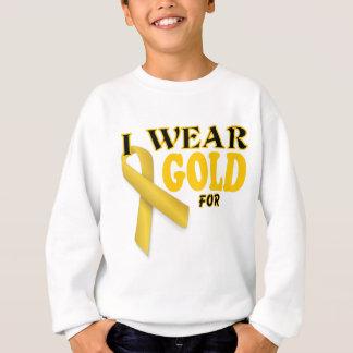 I wear gold for template sweatshirt