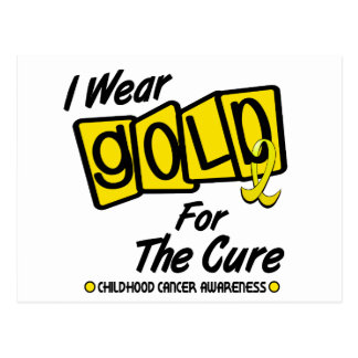 I Wear Gold For The CURE 8 Postcard