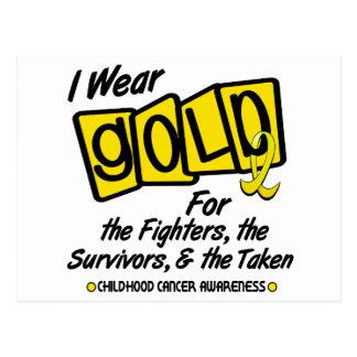 I Wear Gold For The FIGHTERS SURVIVORS TAKEN 8 Postcard