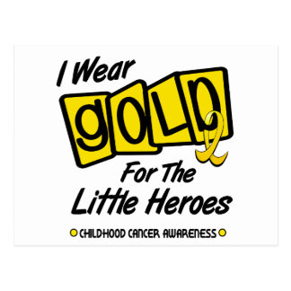 I Wear Gold For The LITTLE HEROES 8 Postcard
