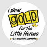 I Wear Gold For The LITTLE HEROES 8 Sticker