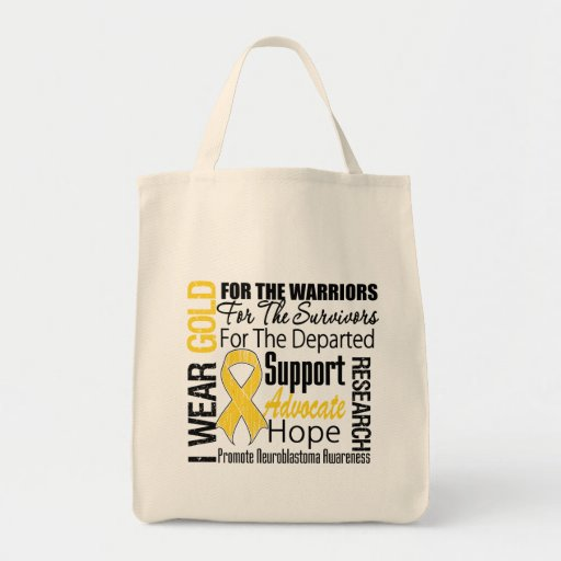 I Wear Gold Ribbon Collage Tribute Neuroblastoma Bag
