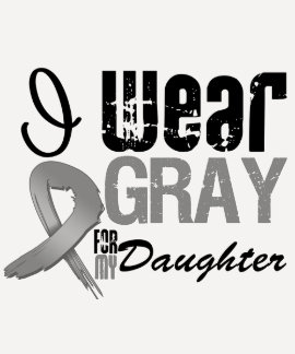 I Wear Gray Awareness Ribbon For My Daughter Tee Shirt