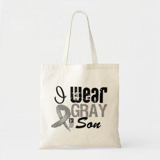 I Wear Gray Awareness Ribbon For My Son Tote Bag