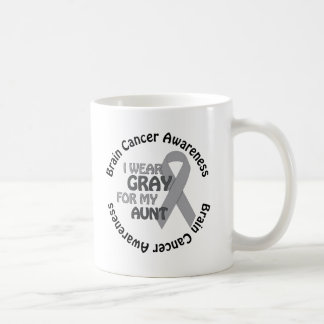 I Wear Gray For My Aunt Support Brain Cancer Coffee Mug
