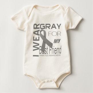 I wear gray for my best friend diabetes Awareness Baby Bodysuit