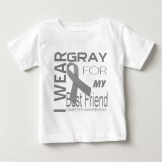 I wear gray for my best friend diabetes Awareness Baby T-Shirt