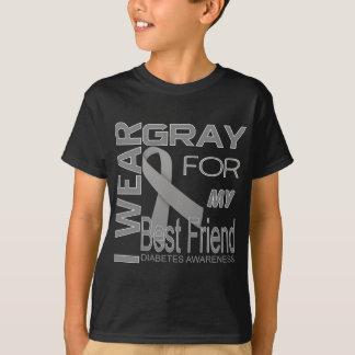 I wear gray for my best friend diabetes Awareness T-Shirt