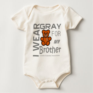 I wear gray for my brother Juvenile Diabetes Aware Baby Bodysuit