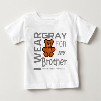 I wear gray for my brother Juvenile Diabetes Aware Baby T-Shirt