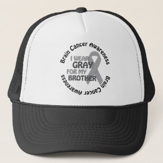 I Wear Gray For My Brother Support Brain Cancer Trucker Hat