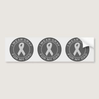I Wear Gray For My Dad Bumper Sticker