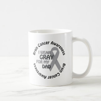 I Wear Gray For My Dad Support Brain Cancer Coffee Mug
