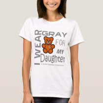 I wear gray for my daughter juvenile diabetes Awar T-Shirt