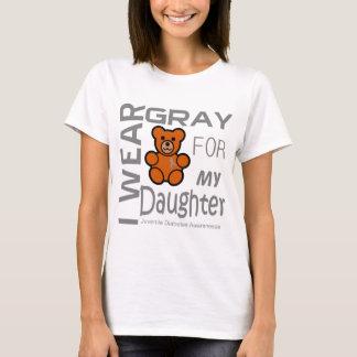 I wear gray for my daughter juvenile diabetes Awar T-Shirt