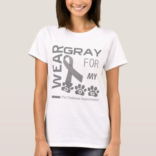 I wear gray for my dog Pet Diabetes Awareness Appa T_Shirt