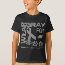 I wear gray for my dog Pet Diabetes Awareness Appa T-Shirt