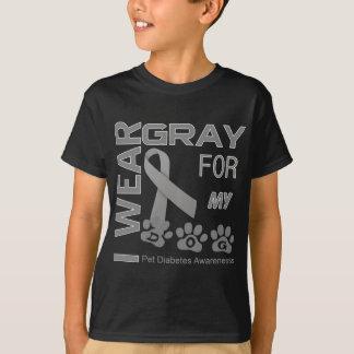I wear gray for my dog Pet Diabetes Awareness Appa T-Shirt