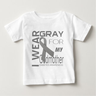 I wear gray for my Godmother Diabetes Awareness Baby T-Shirt