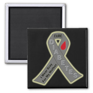 I WEAR GRAY FOR MY MOTHER RIBBON MAGNET