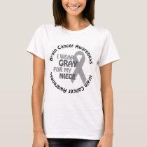 I Wear Gray For My Niece Brain Cancer Awarenes T-Shirt