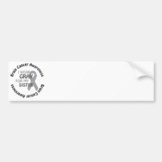 I Wear Gray For My Sister Brain Cancer Awarenes Bumper Sticker