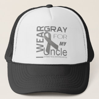 I wear gray for my uncle Diabetes Awareness Appare Trucker Hat