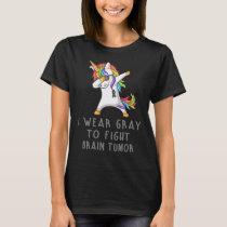 I Wear Gray For Someone Brain Tumor Awareness T-Shirt