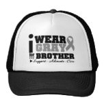 I Wear Gray Ribbon For My Brother Trucker Hat
