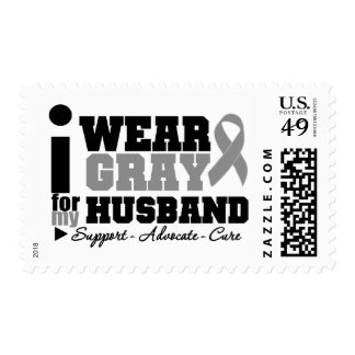 I Wear Gray Ribbon For My Husband Stamps