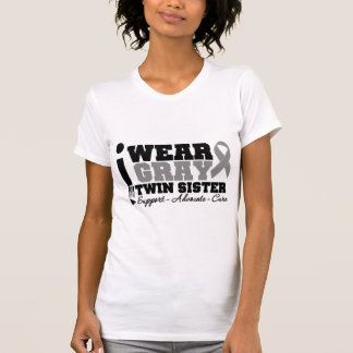 I Wear Gray Ribbon For My Twin Sister T Shirt